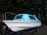 17ft Vanguard Thunderjet Cruiser with outboard and trailer