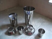 Stainless Steel Large and Medium Size Cocktail Shakers