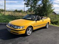 1998 Saab 9-3 SE Turbo Convertible, Very Rare, Top Spec, Full Service History £1250