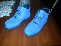 mens blue waterproof rockport boots limited edition size 8 Royal blue