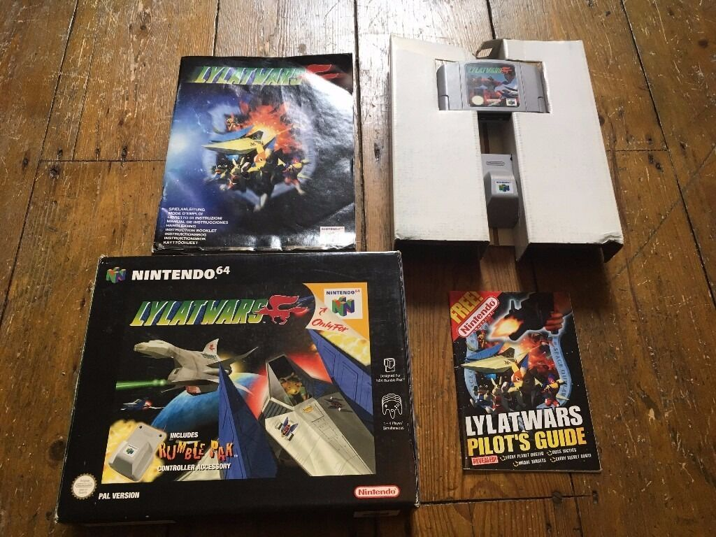 Lylat Wars Boxed With Instructions Rumble Pak For Nintendo 64