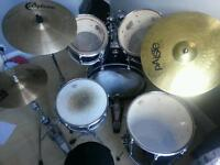 Yamaha Stage Custom drum set with cymbals