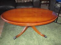 Lovely Reproduction Yew Wood Coffee Table.