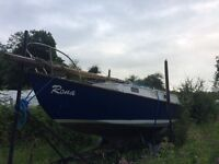 24ft classic sailing boat, great summer project!!
