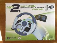 X box 360 wheel and pedals