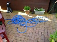 X hose 100 foot used all fittings +water sprayer