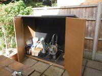 Garden plastic shed