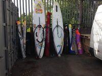 surfing sailbord