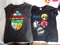 Cartoon Adventure Time and Divergent Faction Shirt