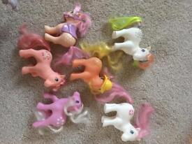 Original G1 My Little Pony bundle of ponies and accessories