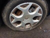 renault twingo alloy wheels 185/55/15 tyres