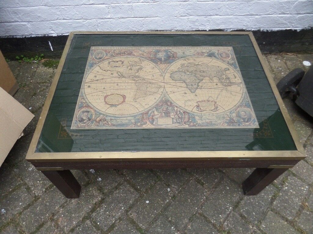 Tremendous Vintage Map Coffee Table In Bournemouth Dorset Gumtree Home Remodeling Inspirations Propsscottssportslandcom
