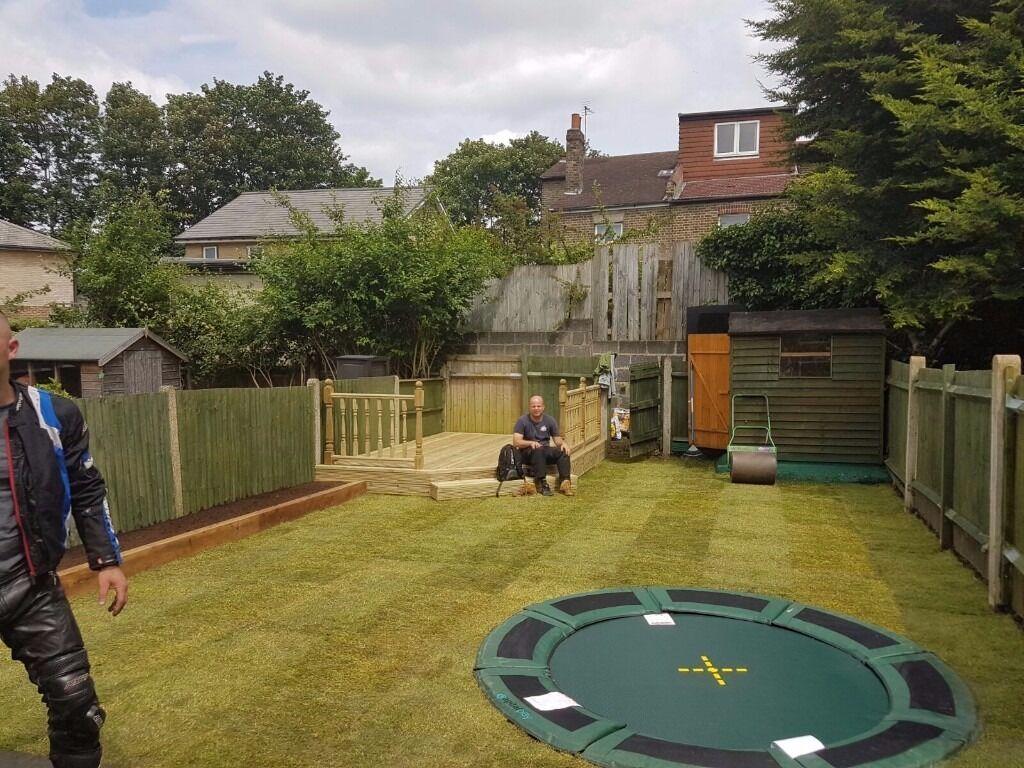 Fencing gardens patios decking driveways in south west for Garden decking gumtree