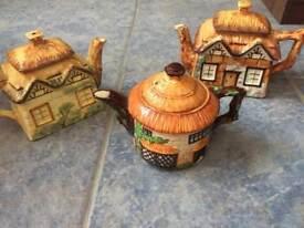 3 Vintage Teapots