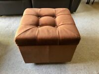 Fabric Foot Stool Pouffe With Storage on Castors - £10