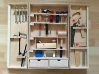Red Robin Toys Junior Carpenter's Tool Box Set with Hammer, Screwdrivers, Spanners and more