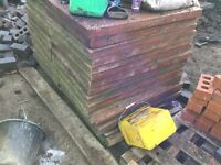 Used red 3x2 paving slabs