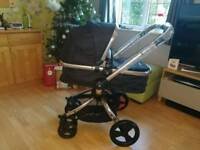 Brand new mothercare orb spin black and rose gold frame