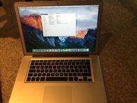 15' Macbook pro mid 2010 , i7, 500GB , 4ram