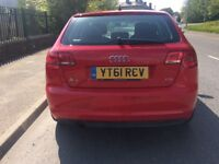 Audi A3 stunning red 1.6 disel 20 pound road tax