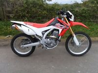 HONDA CRF 250 L-F 65 REG WITH ONLY 580 MILES ON THE CLOCK