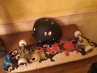 Scateboard & helmet