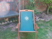 Retro Wood Deck Chair