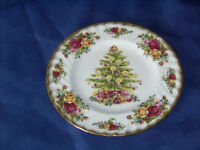 old country rose christmas plate