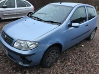 Fiat Punto Dynamic 8V 1242cc Petrol 5 speed manual 3 door hatchback 54 Plate 20/09/2004 Blue