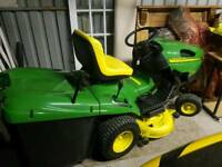 John deere rideon lawnmower