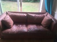 Large leather sofa free to whoever can collect