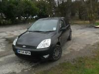 ford fiesta finesse 2004 black 5 door new mot 6 months tax