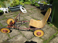 Vintage Children's Pedal Go-Kart/Pedal Car, 1960's/70's, Original condition