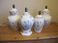 4 Aynsley Wild Tudor Table LAMPS