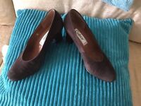 Brown Suede Gabor Court Shoes