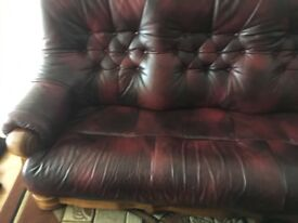 Leather Sofas for sale 3x3 pieces, 1x2 piece, 1x1 piece. Good condition
