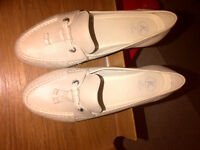 K shoes by Clarks, Beige Leather, Size UK5 EUR38