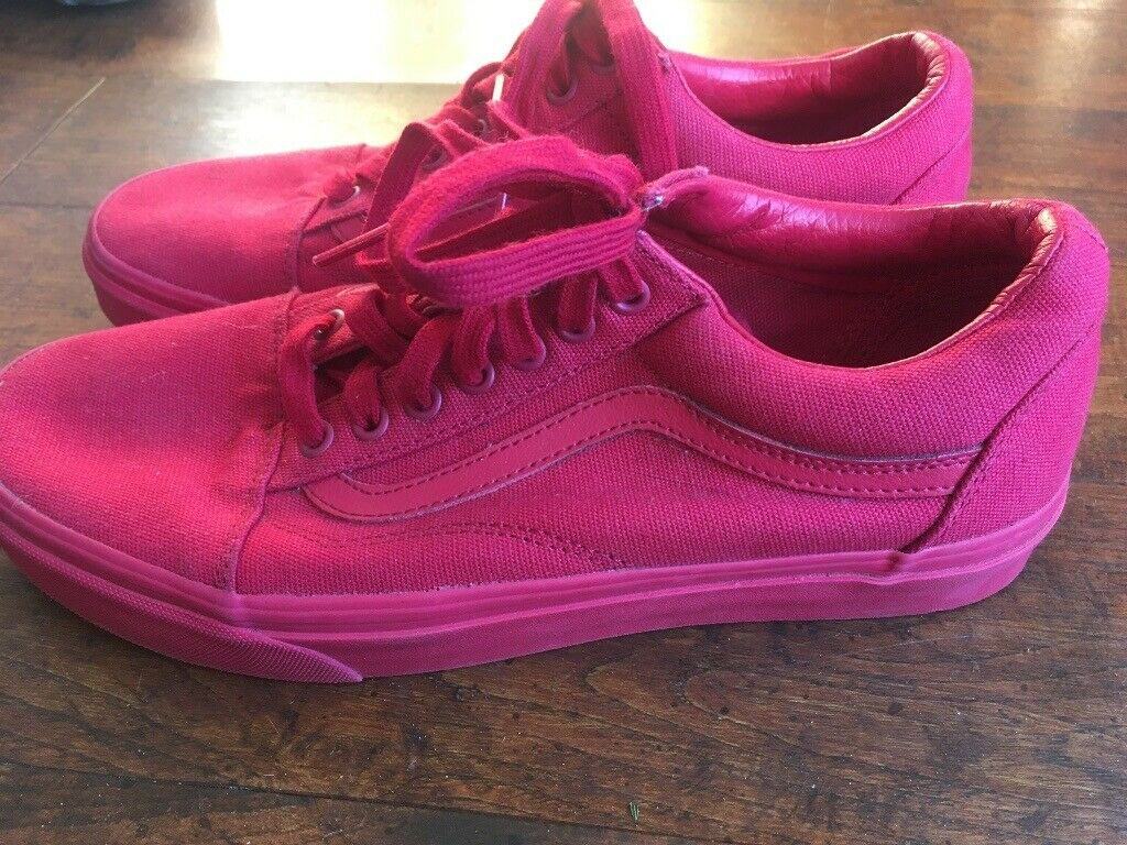Vans Old Skool Mono Blue and Red 2 pairs size 8 | in Lenzie, Glasgow | Gumtree