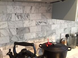 Honed Bianco Carrara Marble Tiles Mandarin Stone - 8 boxes - just under 4sqm