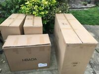 Free cardboard boxes for packing furniture or moving
