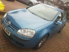 VW Golf 5dr Blue 1.6 Petrol with FSH excellent condition - lady owner
