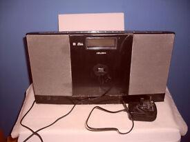 BUSH MICRO HIFI CD RADIO ALARM CLOCK WITH REMOTE CONTROL & INSTRUCTIONS