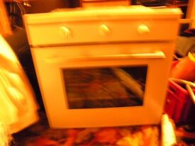 new built in oven white Indesit electric only used three or four times.