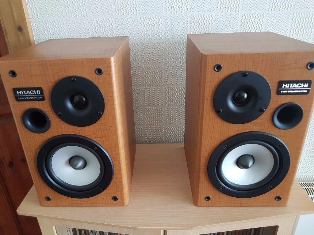 hitachi speakers. hitachi 2 way speakers 50w 8 ohm hitachi speakers e