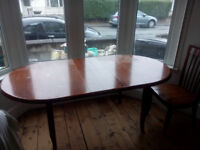 Hardwood dining table and 4 chair set
