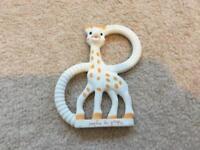 Sophie the giraffe teething aid