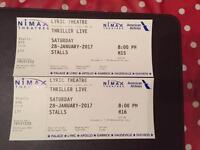 Thriller Live tickets Sat 28th Jan 2017
