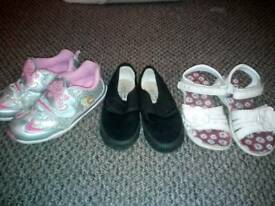 Girl 3 pair shoes size 12