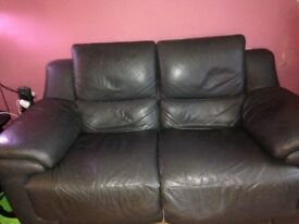 Dark grey two seater snd two chairs