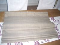 ROMAN BLIND, BROWN, WITH PULLEY